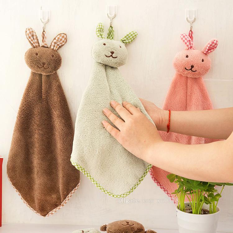 hot cute rabbit small square towel kitchen bathroom hanging hand rh dhgate com