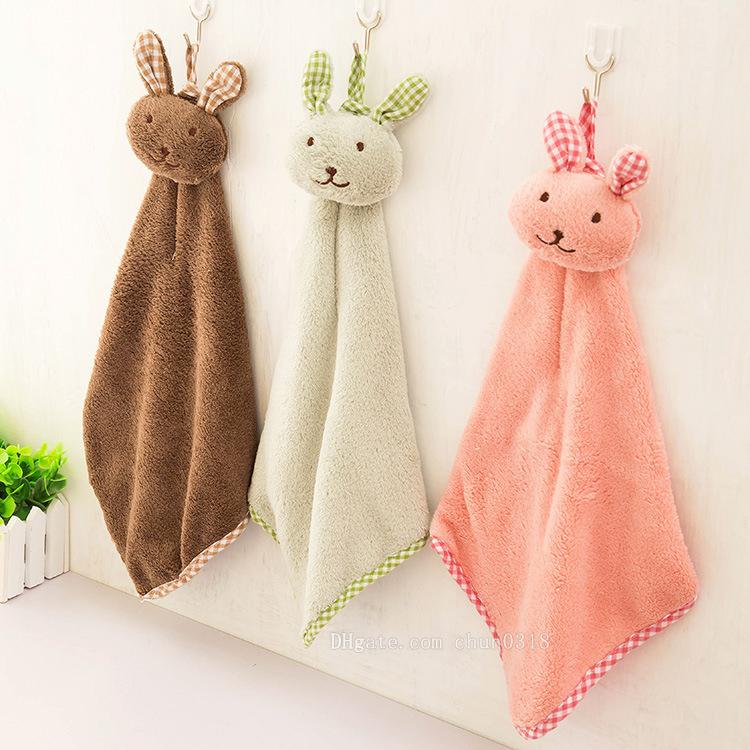 2019 new hot cute rabbit small square towel kitchen bathroom hanging rh dhgate com