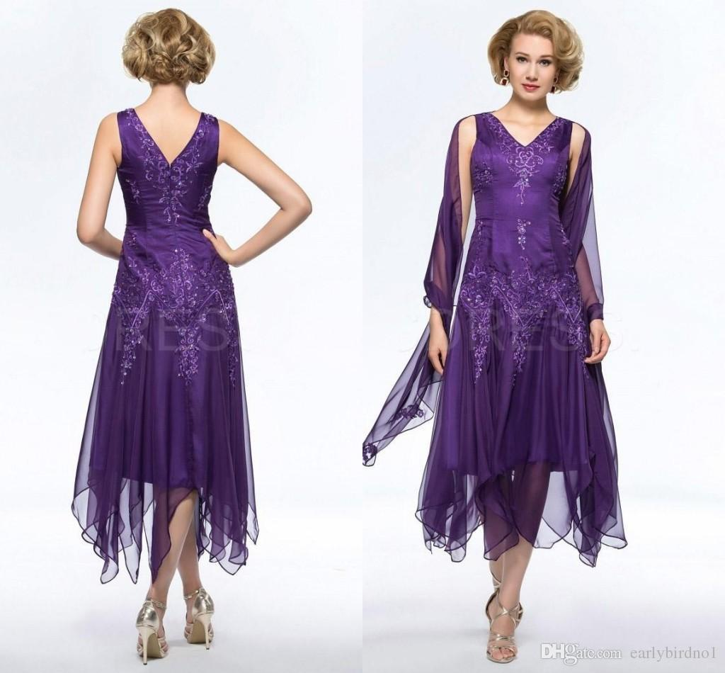 Mother of the Bride Dresses Plum Color