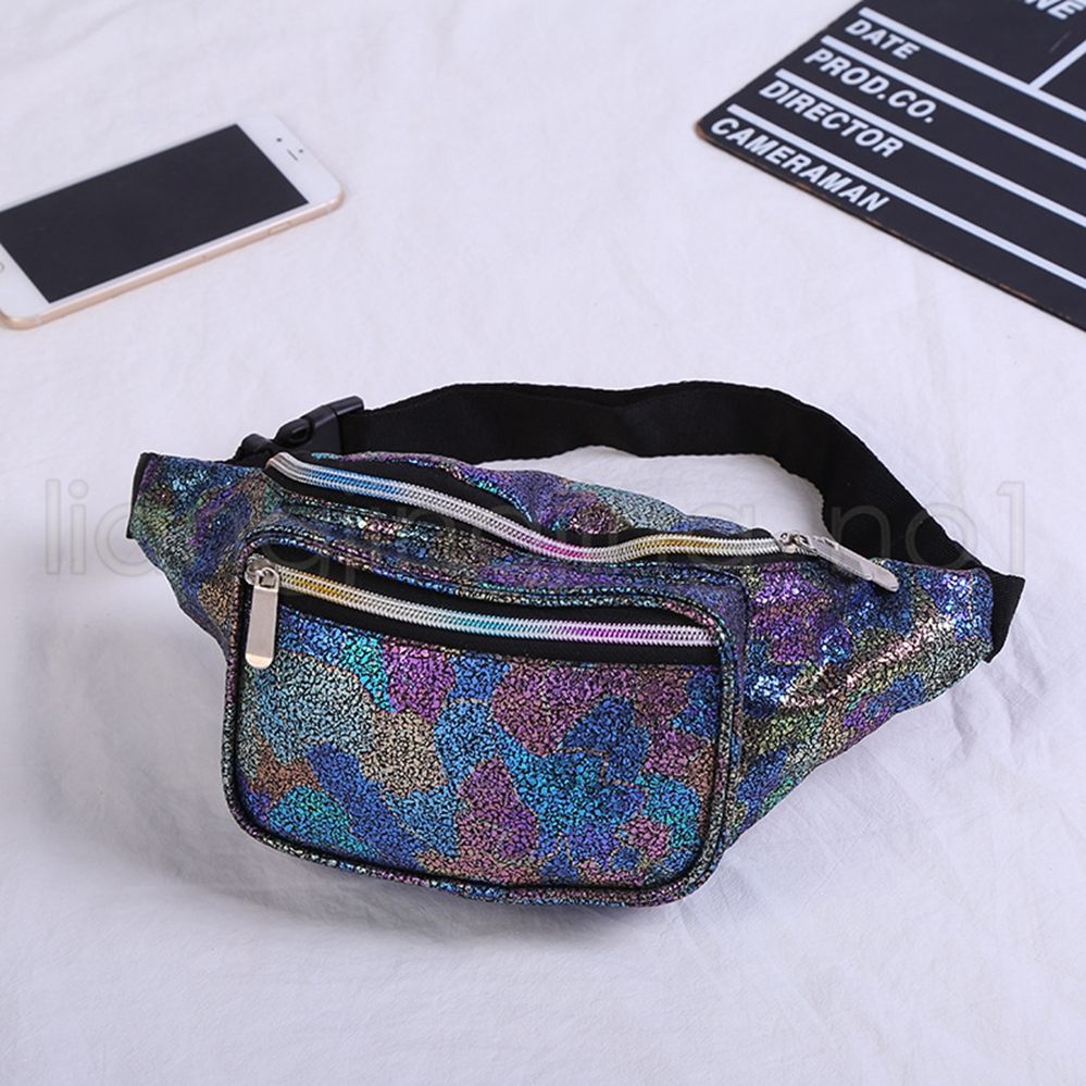 e21d2e6c5a4ad 6styles Girls Laser Waist Bag Colorful Beach Travel Pack Fanny Pack ...