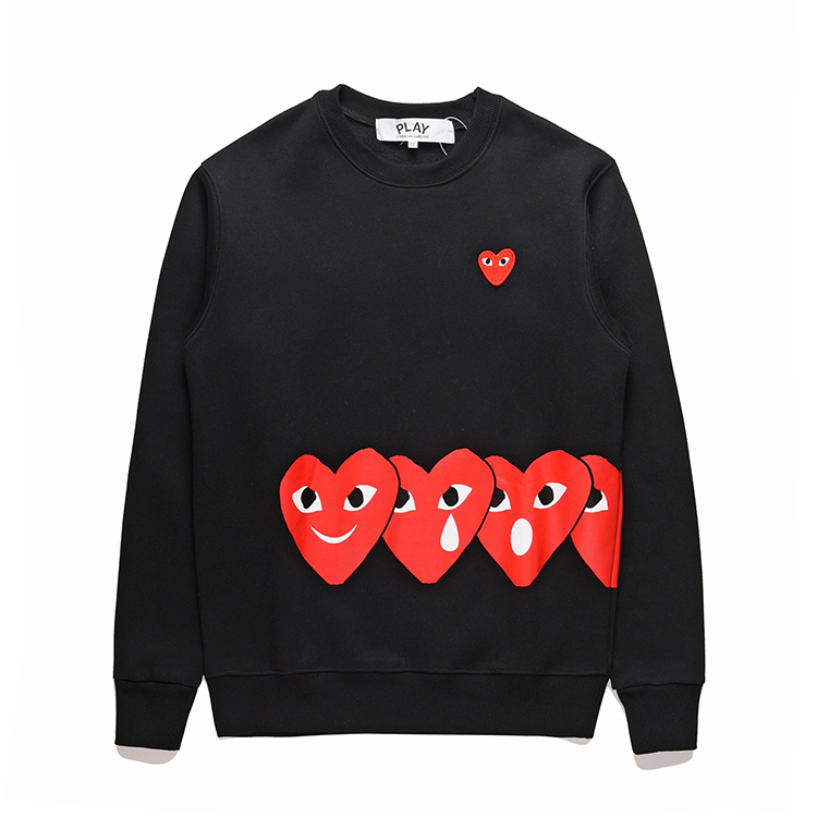 2019 Mens Designer Jackets CDG PLAY COMMES Japanese Peach Heart Men Women DES GARCONS New Love Sweater OFF Long Sleeve Hoodies Breathable Coats From