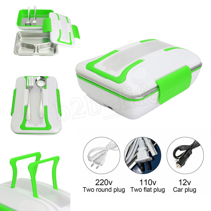 Portable Ptc Electric Heating Lunch Box Container