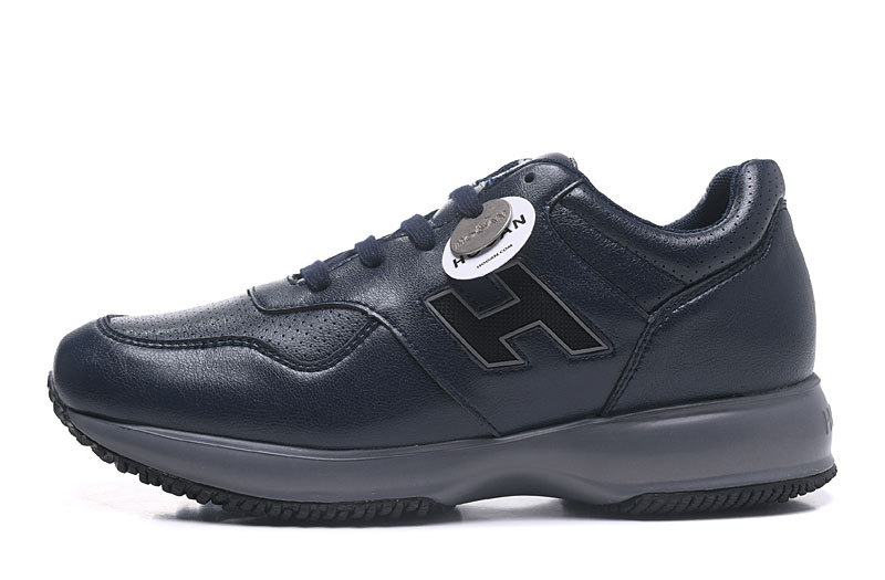 2019 Hogans Interactive Sneakers Men Black Suede Classic Leather ... d6ebb901b8c