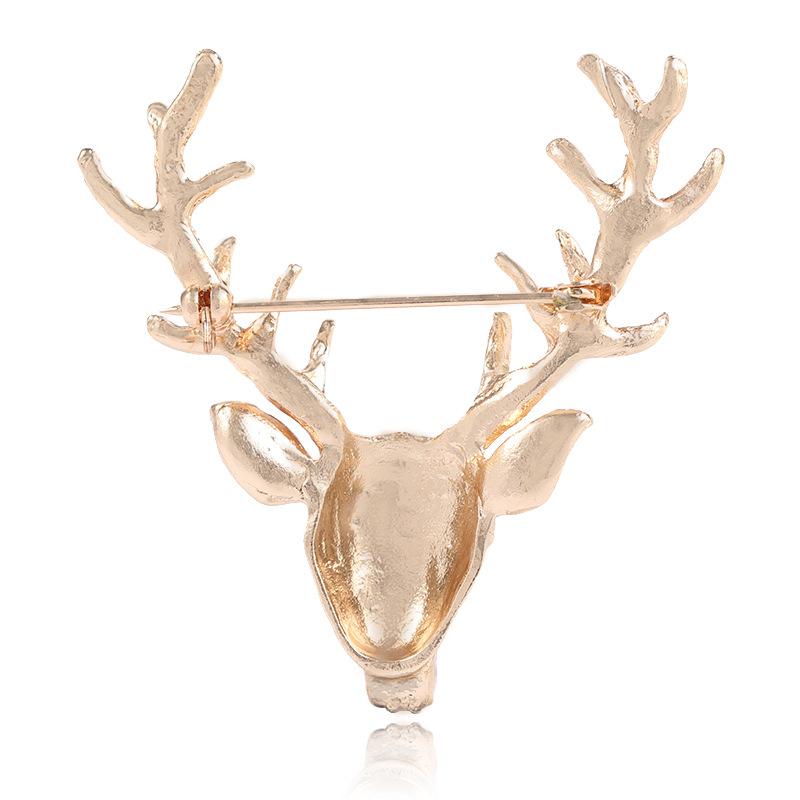 744996734f4c Women Retro Deer Head Horn Elk Antler Stag Lapel Stick Pin Tie Hat ...