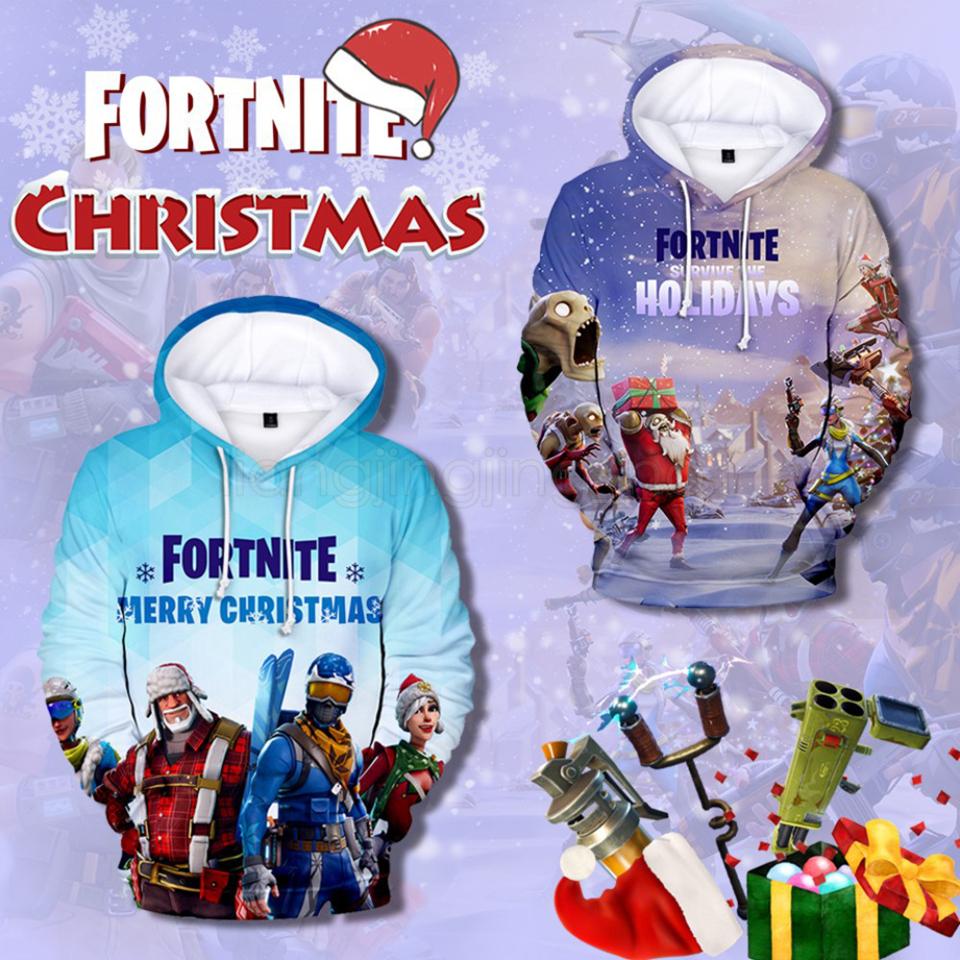 2019 Christmas Fortnite Hoodies Xxs 4xl Men Women 3d Printed Hooded