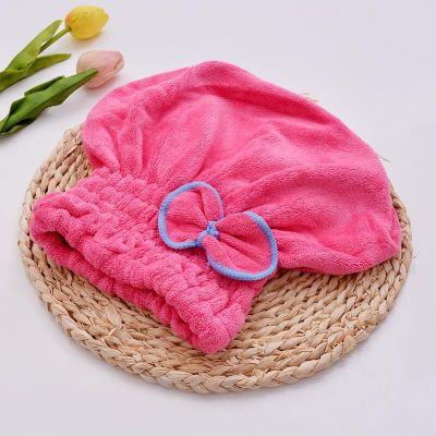HOT  Velvet erp Dry Turban Wrapped Bath Towel Hair Towel Shower Hat  Hat