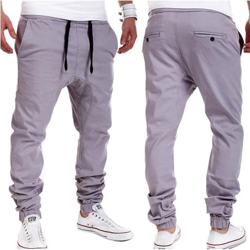 f2ebbd8f Plus Size Khaki Joggers Mens Khaki Pants Jogger Pants Men's Cuffed Joggers  Pants Cotton Long Trousers European New Black Jogger
